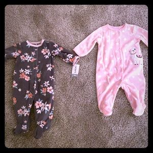 Baby girl snuggly fleece pjs!